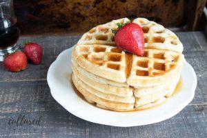 Homemade Buttermilk Waffles {Get in my Belly!}