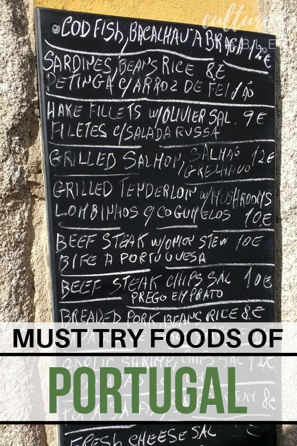 chalkboard menu in portugal
