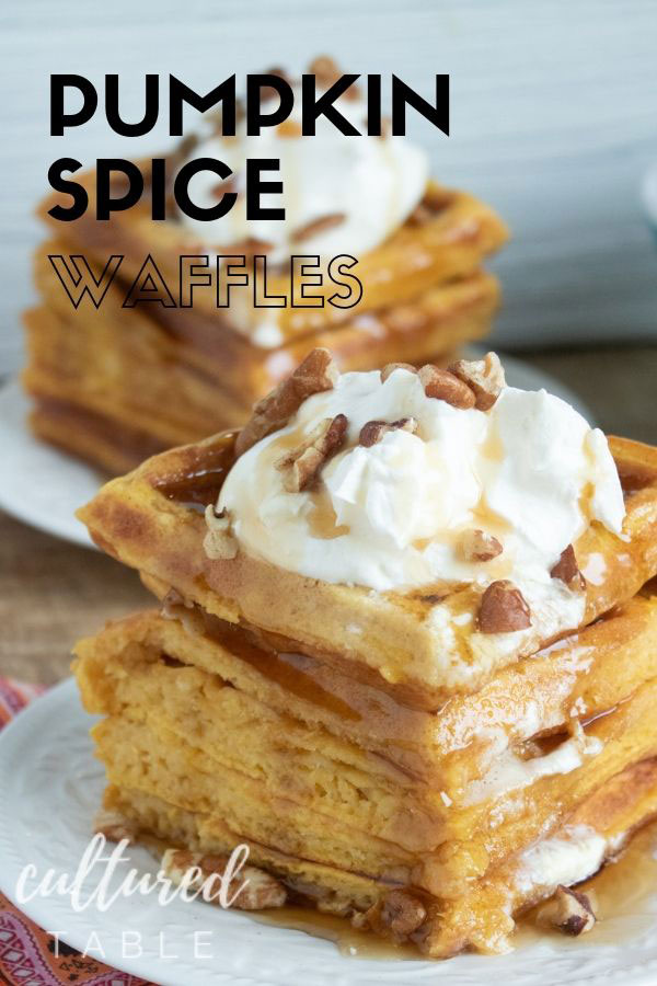 stack of pumpkin waffles