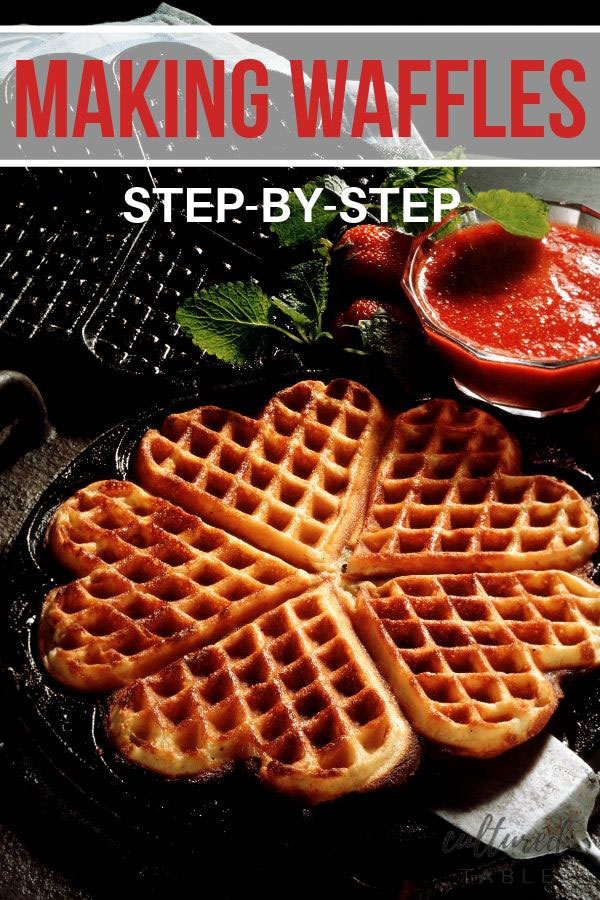 heart shaped waffles in an iron