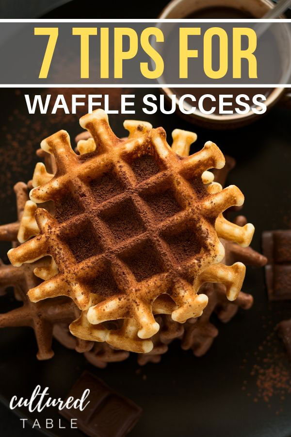 WAFFLES sprinkled with cocoa
