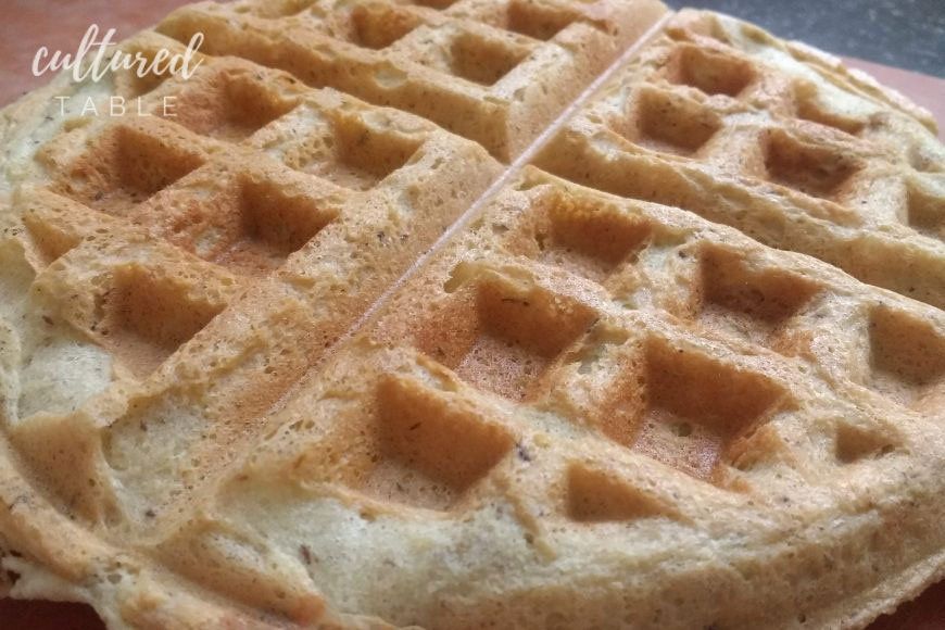 cooked almond flour waffle