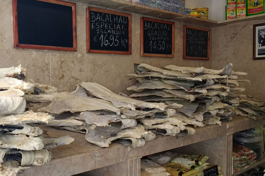 dried bacalau in Portugal