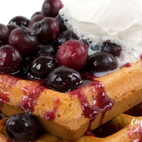 Easy Blueberry Sauce for Waffles or Pancakes