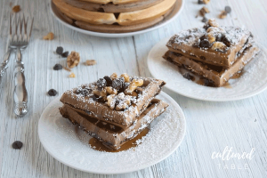 Oh-So-Sweet Banana Chocolate Chip Waffles