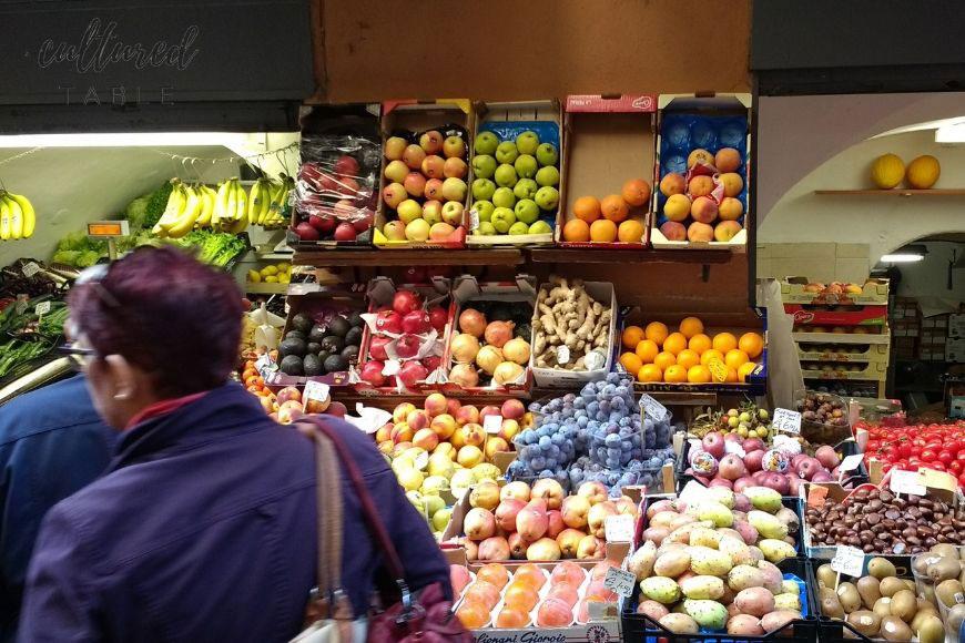 fresh produce at an italian market