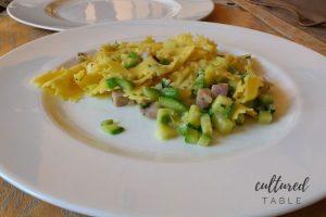 Italian Farfalle Pasta (Bowtie Pasta) with Zucchini and Ham