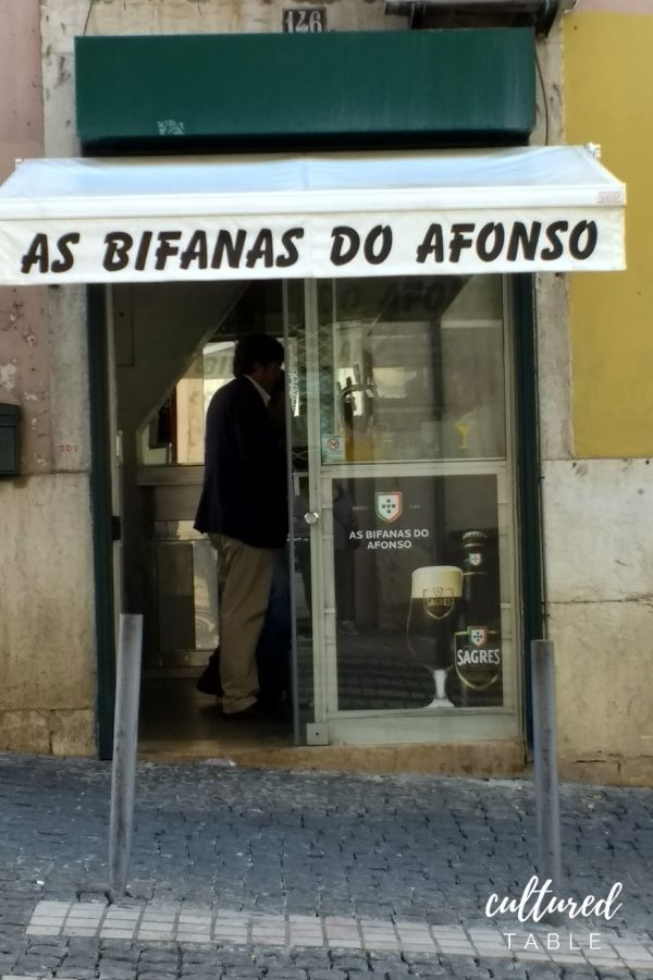 Storefront of a small deli in Portugal