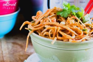 Thai Peanut Noodles — Quick and Easy in the Instant Pot