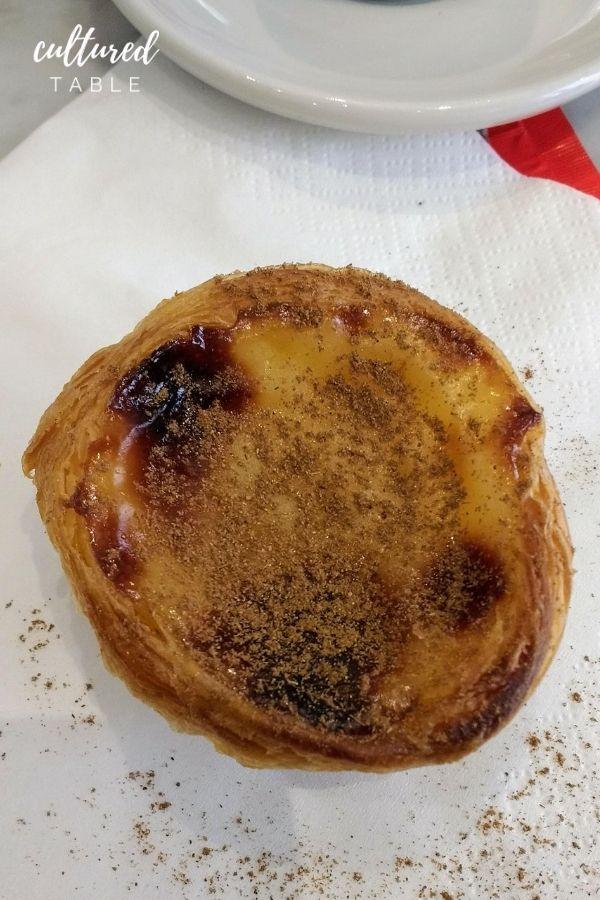 cooked pasties de nata in portugal