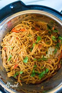 cooked noodles in an instant pot