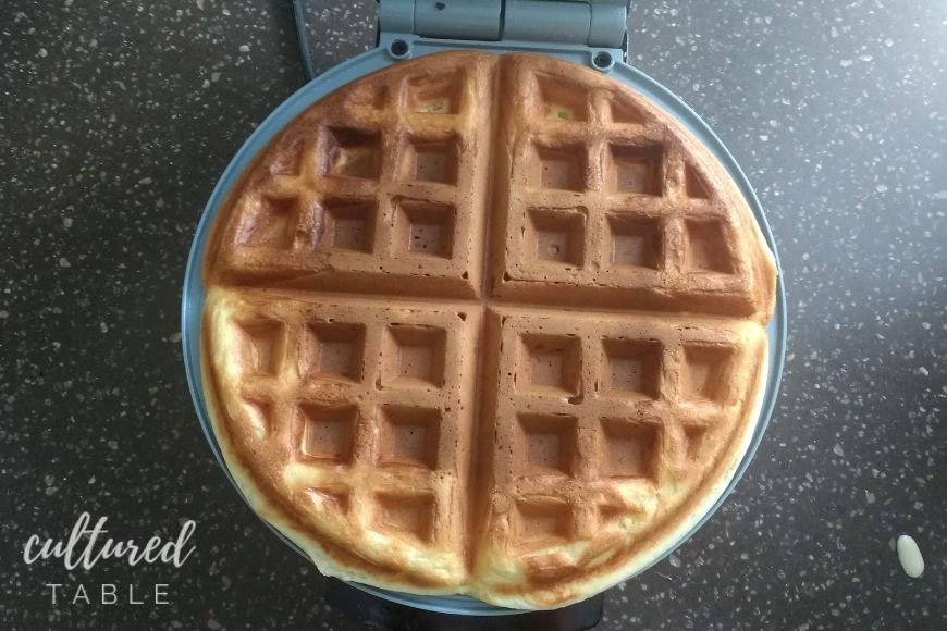 browned waffle