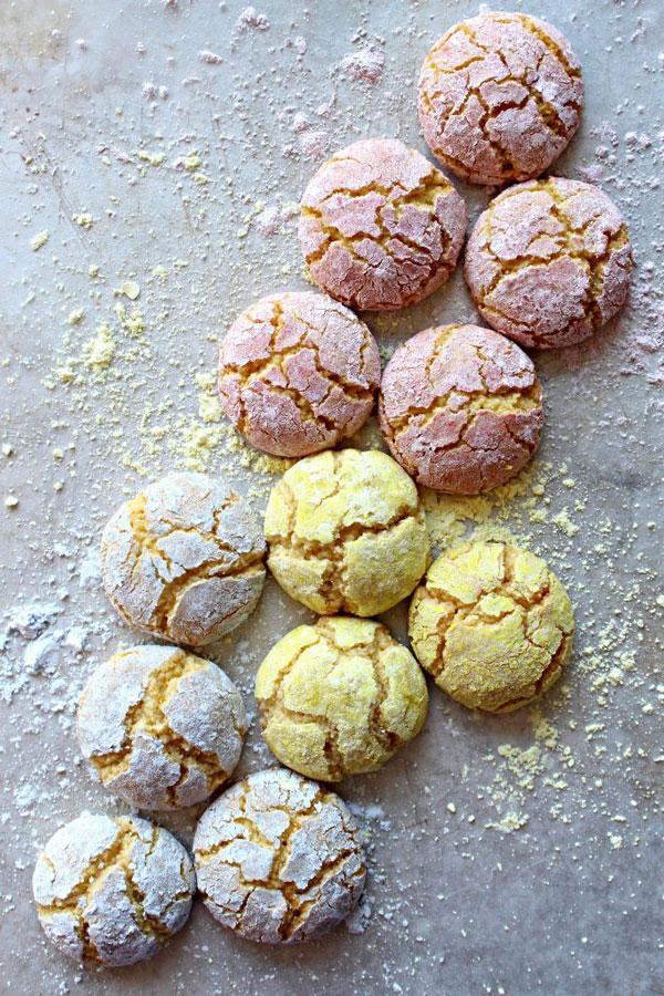 pastel colored italian cookies
