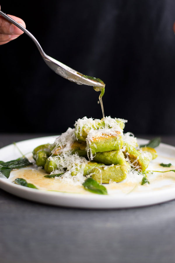 green gnocchi