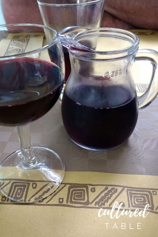wine in carafe