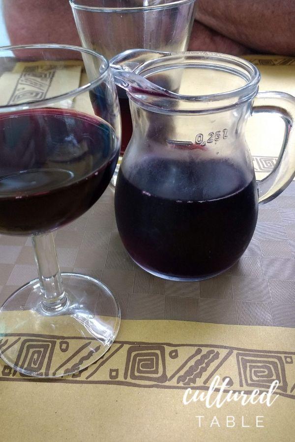 wine in carafe