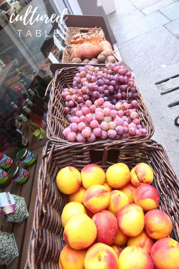 fresh fruit in baskets