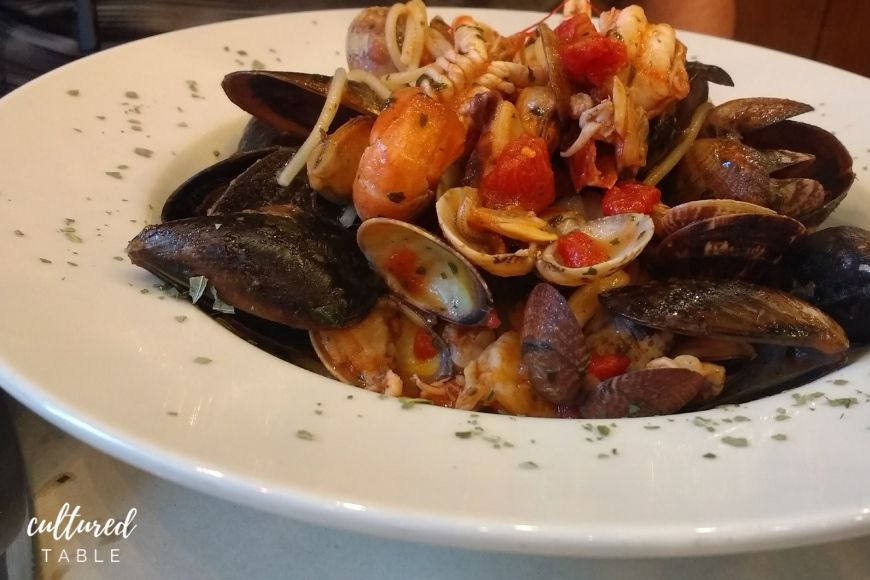 pasta with shellfish