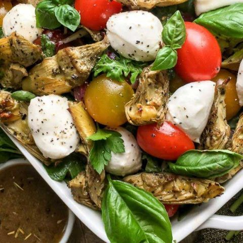 Roasted Artichoke and Mozzarella Salad