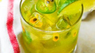 Spicy Passion Fruit Margaritas