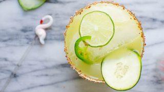 Spicy Cucumber Kiwi Margaritas