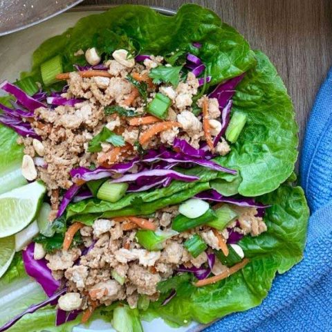 Easy Asian Inspired Turkey Lettuce Wraps