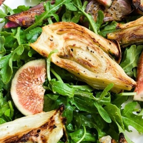 roasted fennel salad with fig and artichoke