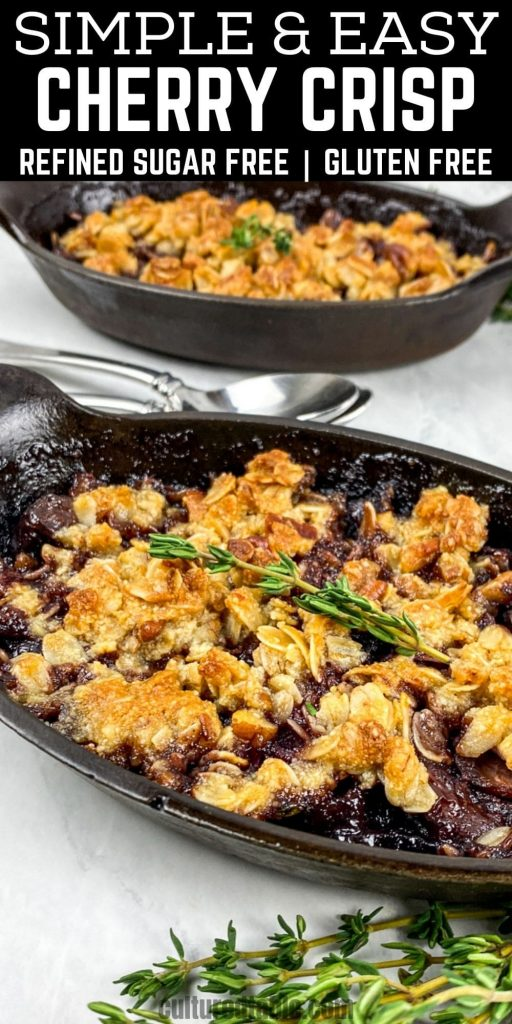 crisp recipe with black cherries
