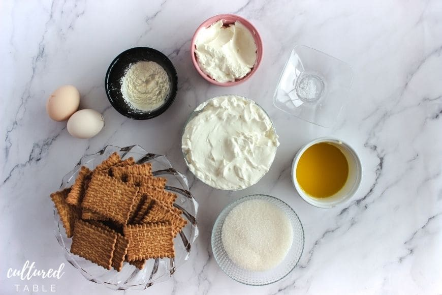 ingredients for cheesecake recipe
