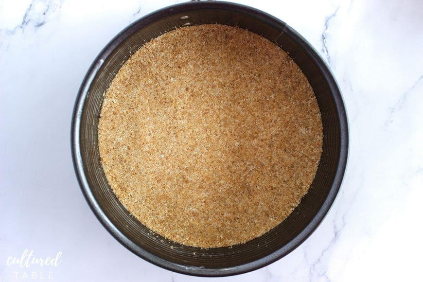 cracker crust pressed into instant pot